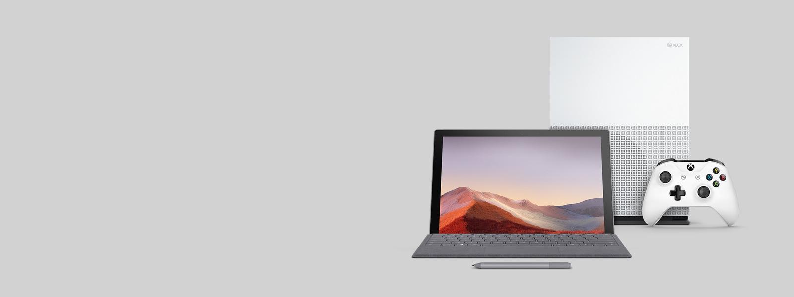 Surface e Xbox con accessori