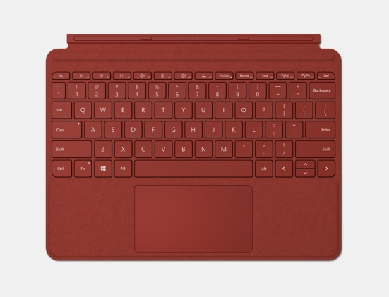 Poppy Red Surface Go Type Cover