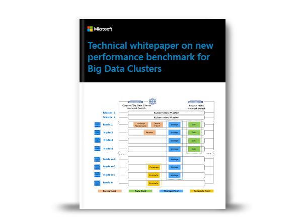 Technical whitepaper on TPC-DS benchmark for Big Data Clusters ebook cover