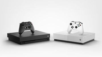 Xbox One X and Xbox One S All-Digital Edition consoles.