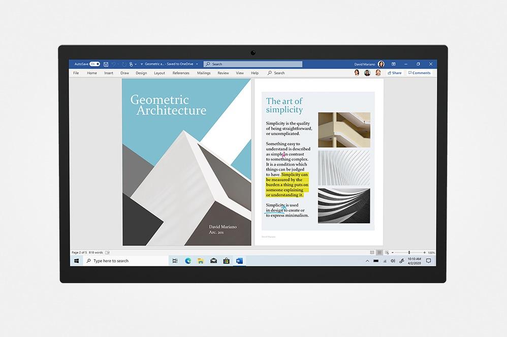 L'écran d'une tablette affichant Microsoft OneDrive.
