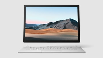 Vista frontal de Surface Book 3