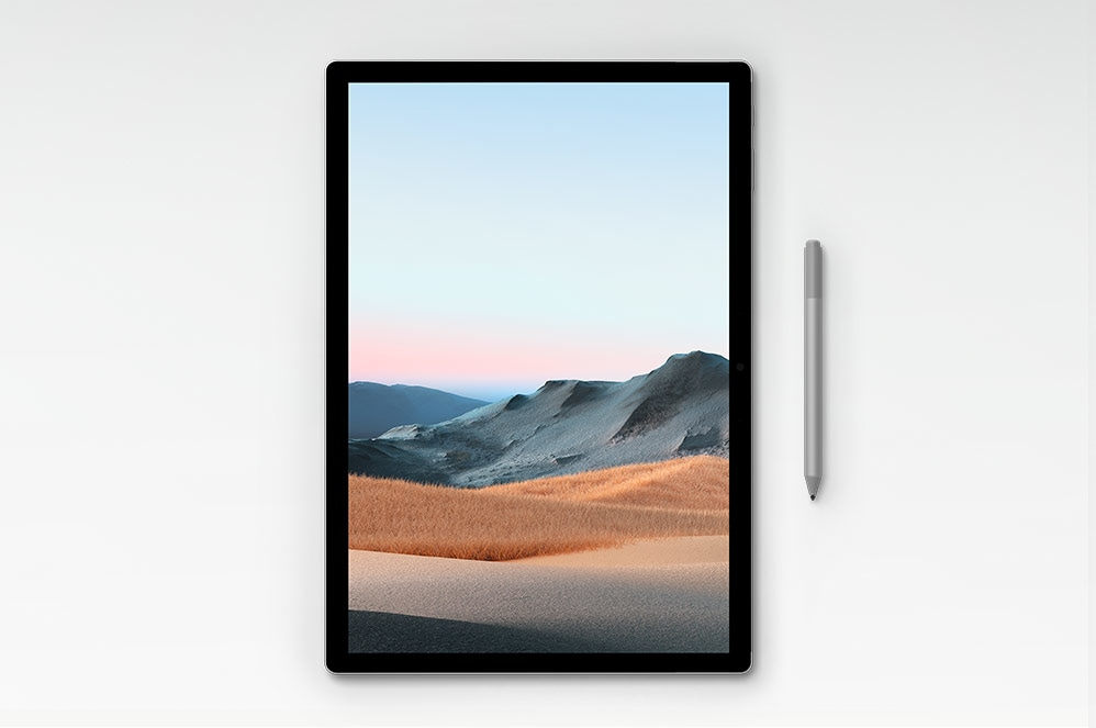 Surface Book 3 i surfplatteläge med Surface-pennan