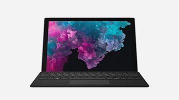Surface Pro 6 for Business plus black Type Cover bundle