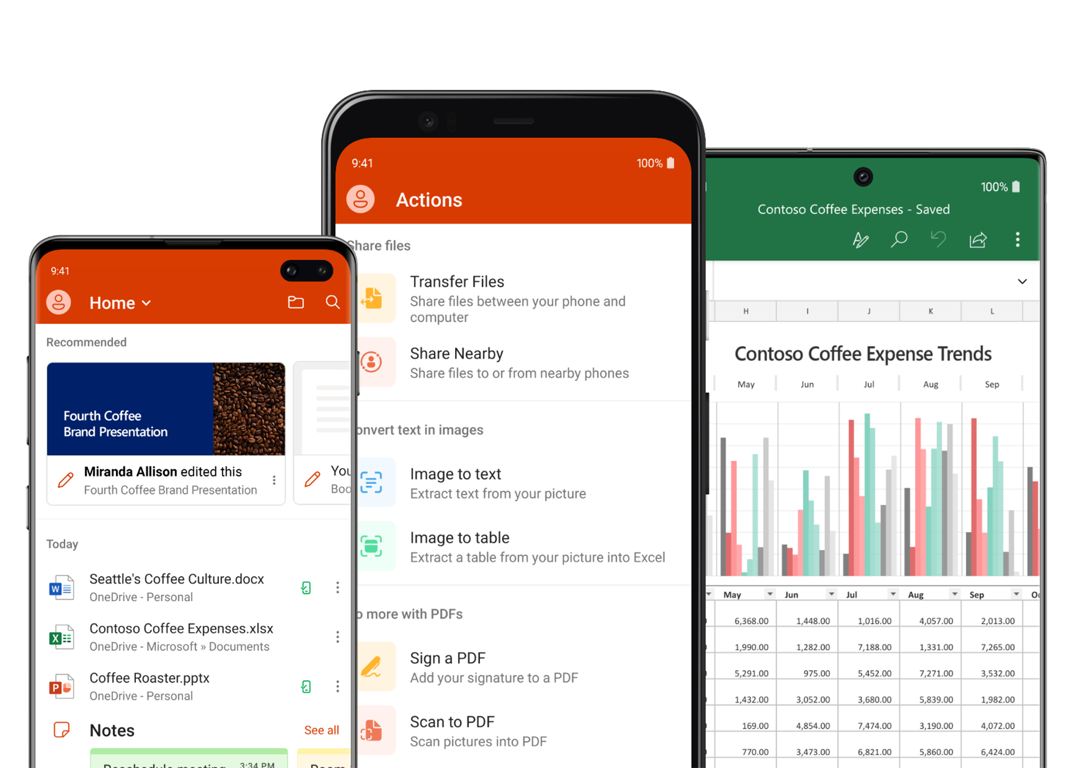 Office Apps For Android Phones And Tablets Microsoft Office