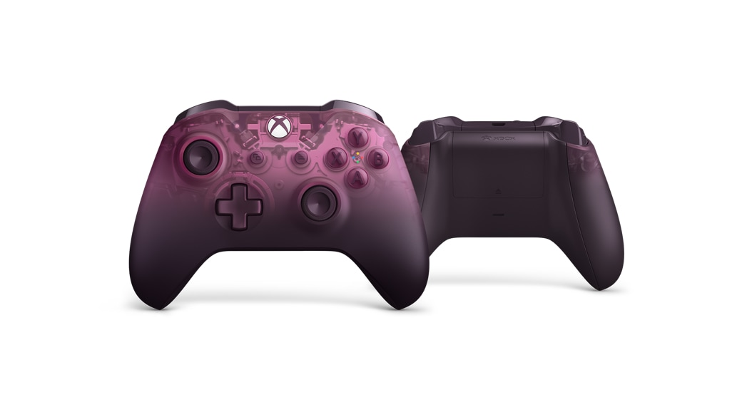 Front and rear views of the Xbox Wireless Controller – Phantom Magenta Special Edition