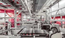 View of machines in a manufacturing facility