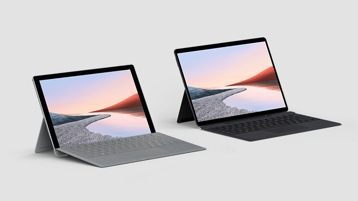 Surface Pro 7 for Business mit Type Cover und Surface Pro X for Business mit Tastatur