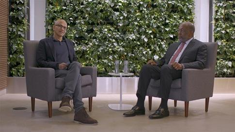 Satya Nadella und Bernard Tyson (CEO von Kaiser Permanente)
