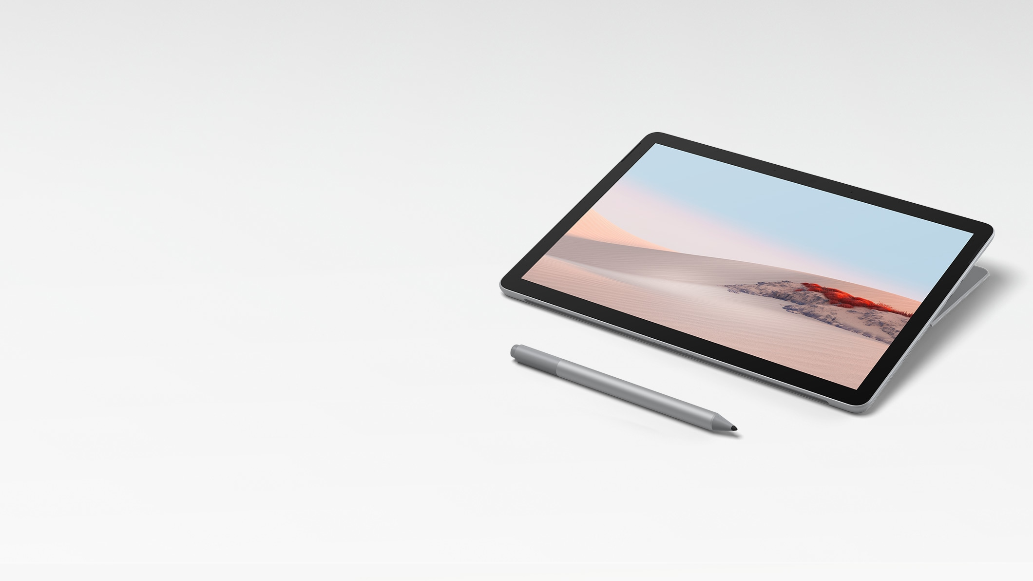 Surface Go 2 en modo Estudio con el Lápiz para Surface