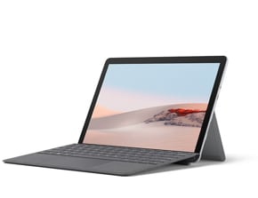 展示 Surface Go 2 與 Surface Go Signature 實體鍵盤保護蓋