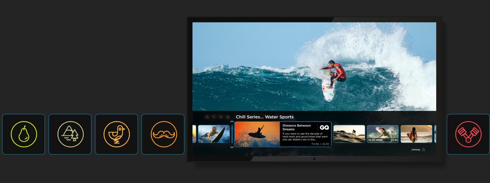 Zone TV interface