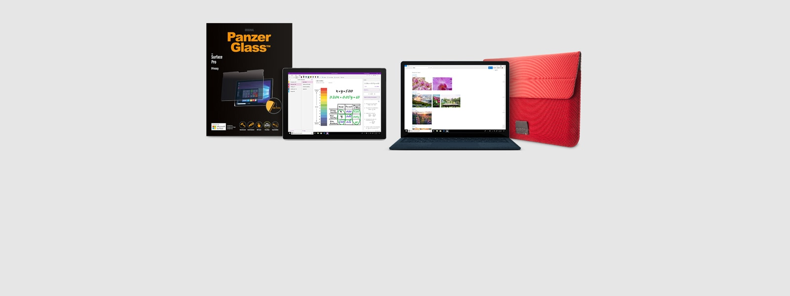 Surface Pro 7 and PanzerGlass, Surface Laptop 3 and Cozistyle ARIA 15 sleeve