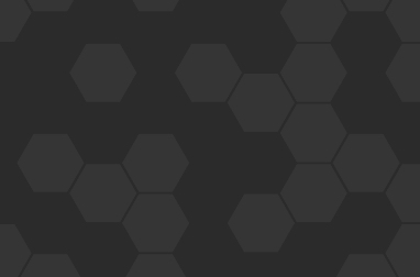 Graphic formed of dark and light grey hexagons