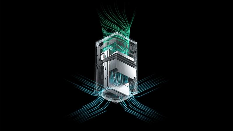 Detailansicht der Luftstrom-Kühlungsarchitektur der Xbox Series X