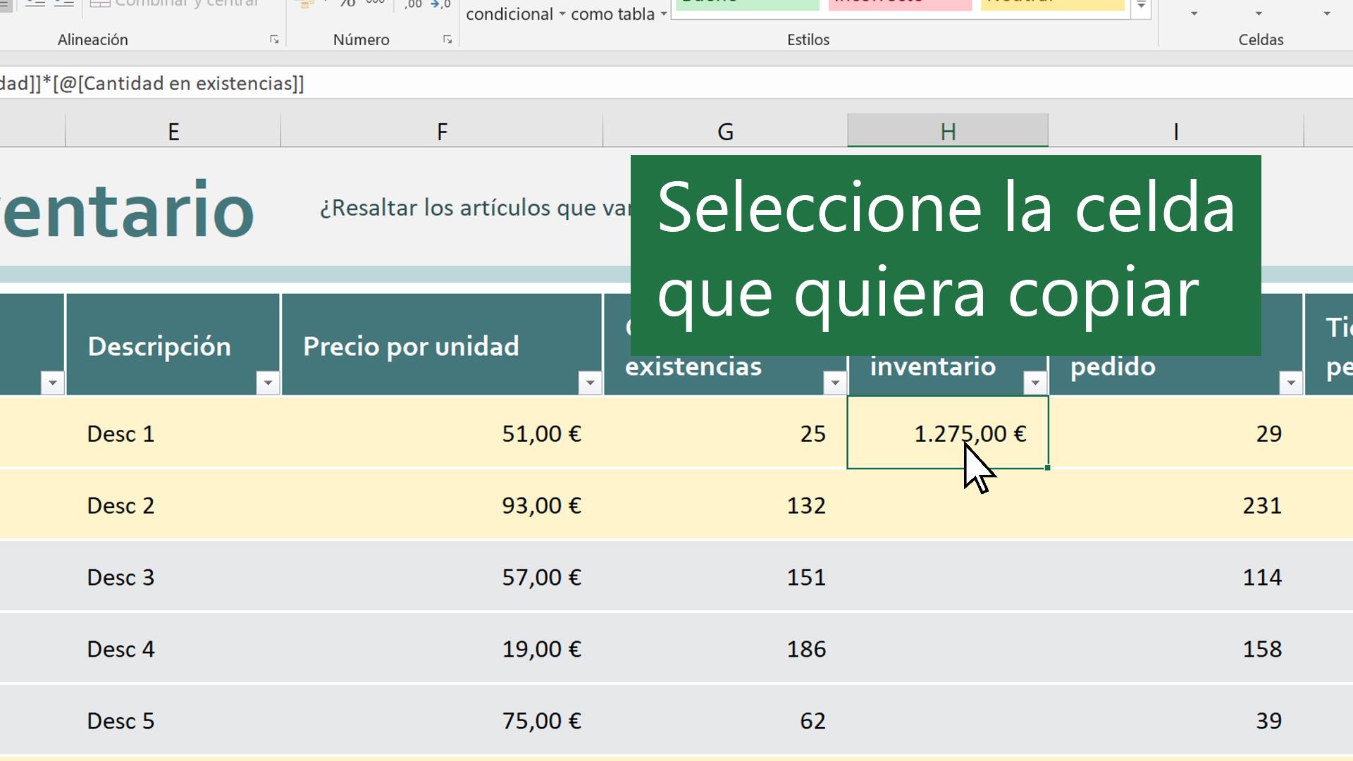 Mover O Copiar Celdas Y Contenido De Celdas Excel