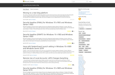 Screenshot of  a Microsoft web page with multiple blocks of text