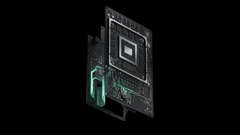 Exploded image of Xbox Series X split motherboard