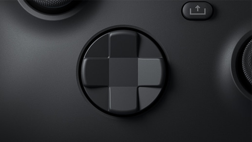 Close up view of new hybrid D-pad