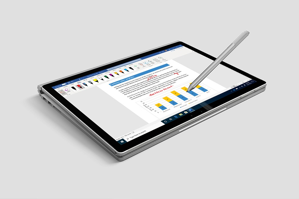 Refurbished Surface Book with a pen