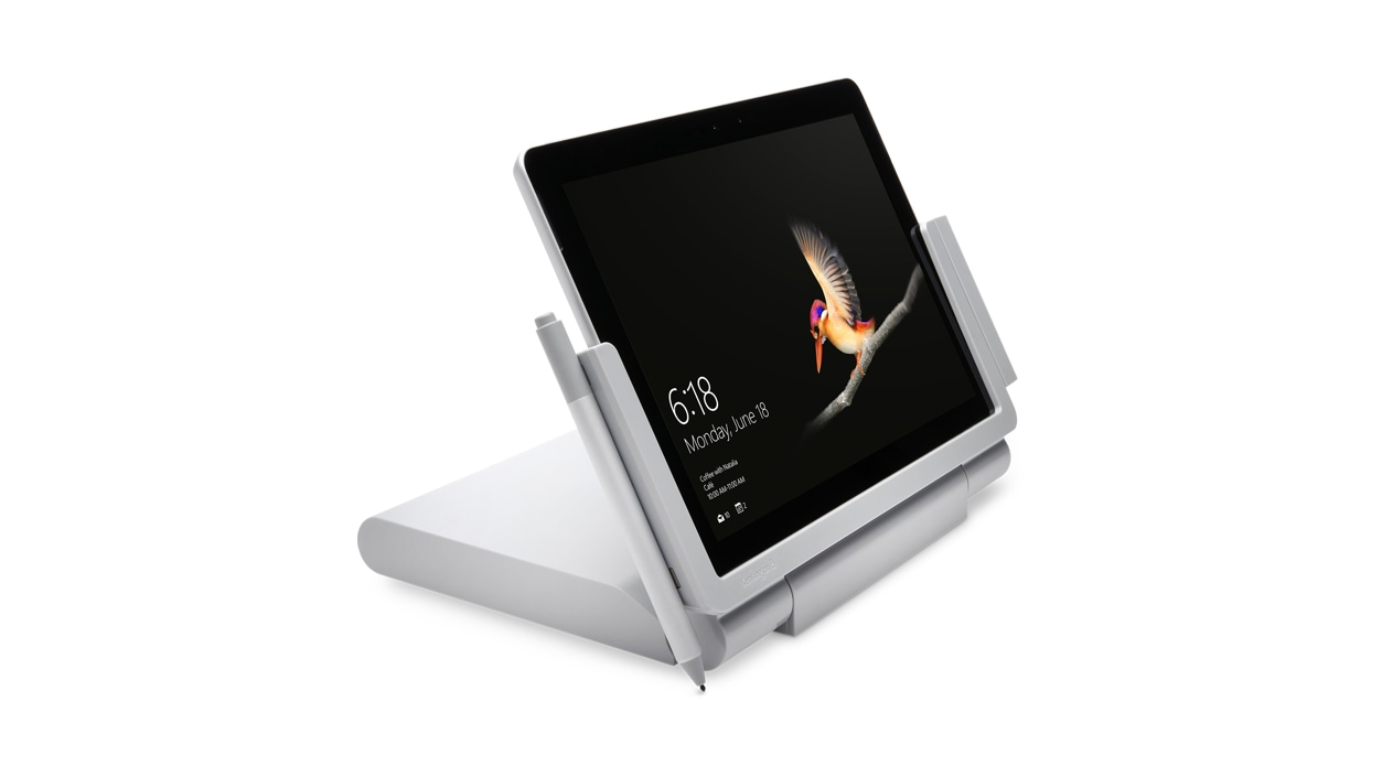 Kensington SD6000 Surface Go 5Gbps Docking Station with surface tablet right angle