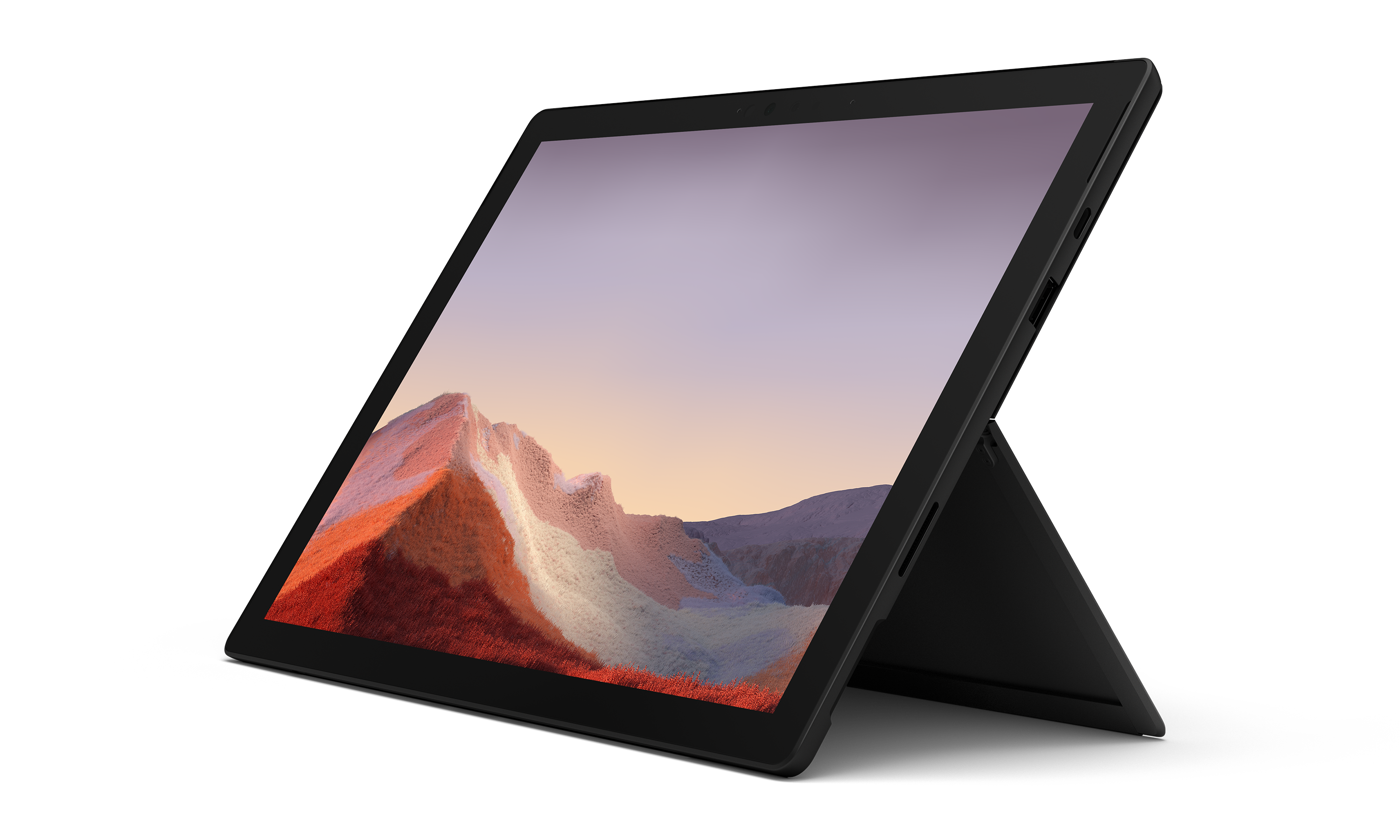 Surface Pro 7 - Black, Intel Core i7, 16GB, 256GB Ultra-light and versatile. At your desk, on the sofa, or in the garden, get more done your way with Surface Pro 7, featuring a laptop-class Intel® Core™ processor, all-day battery¹ and HD cameras.