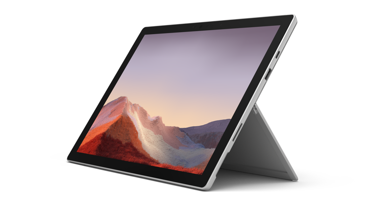 Surface Pro 7 in color platinum
