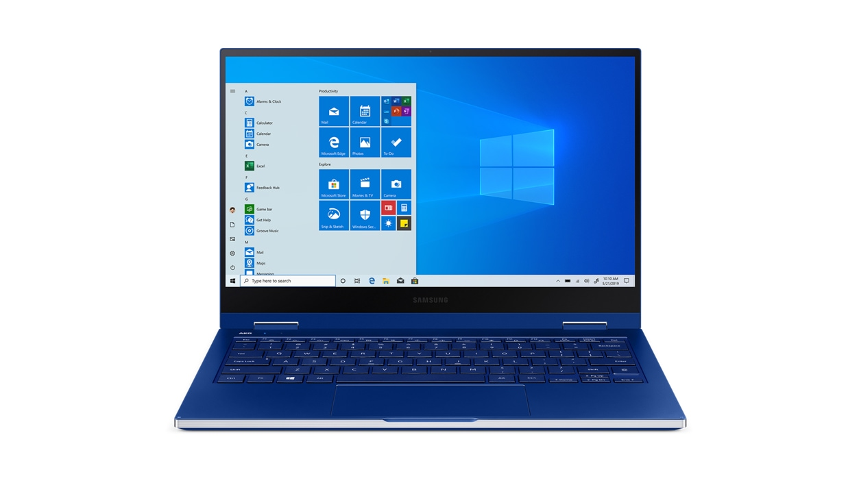 Front view of the Samsung Galaxy Book Flex 13