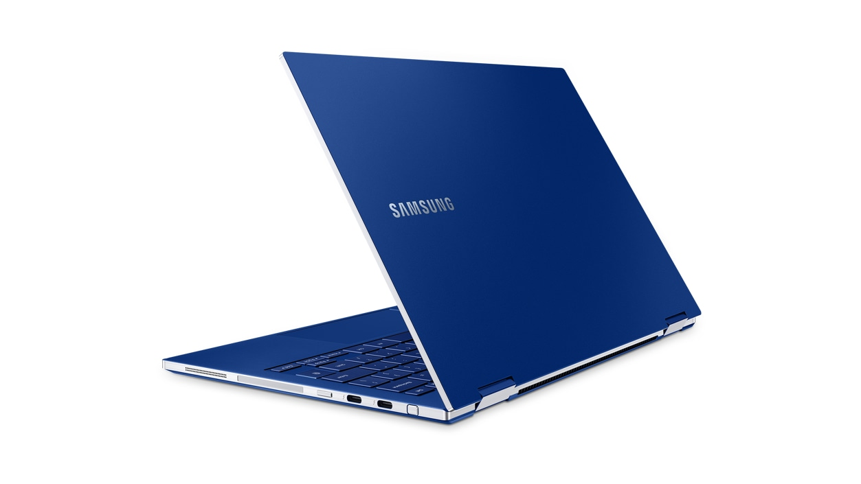 Left rear sided view of the Samsung Galaxy Book Flex 13