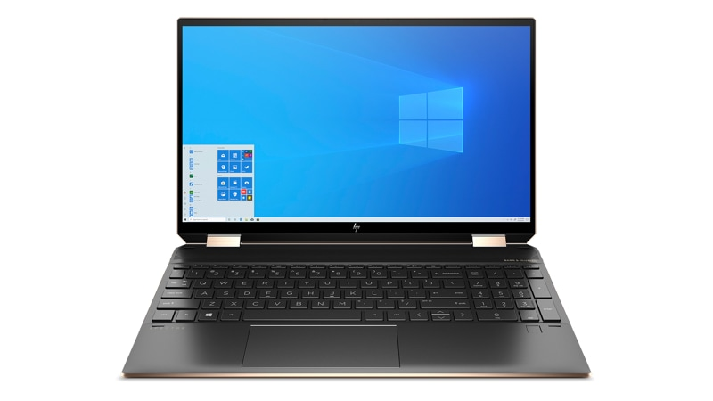 Front view of  HP Spectre 360 Convertible laptop.
