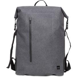 "Vista frontal de la mochila enrollable Knomo Cromwell gris de 14"""