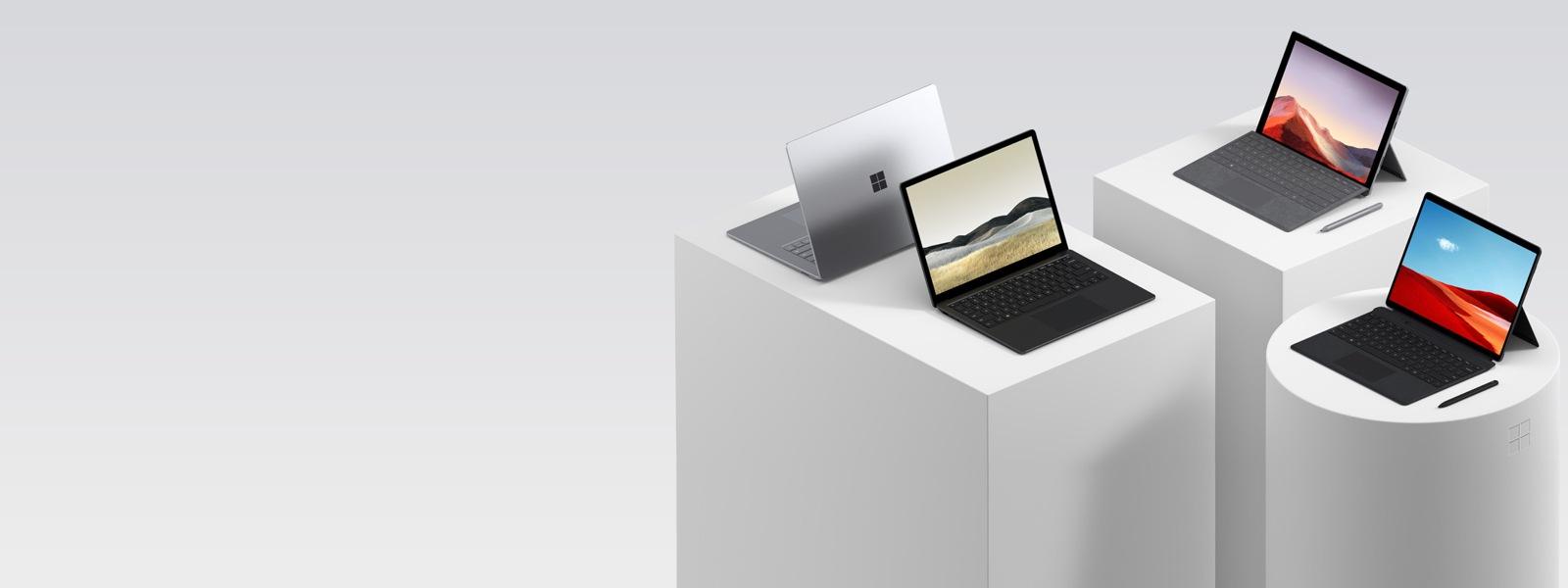 Paparan beberapa komputer Surface