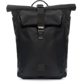 Vista frontal de la mochila negra Novello de Knomo.