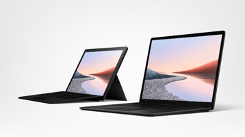 Surface Pro X for Business black and Surface Laptop 3 for Business black