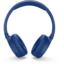 Front view of JBL Tune600 headphones in Blue.