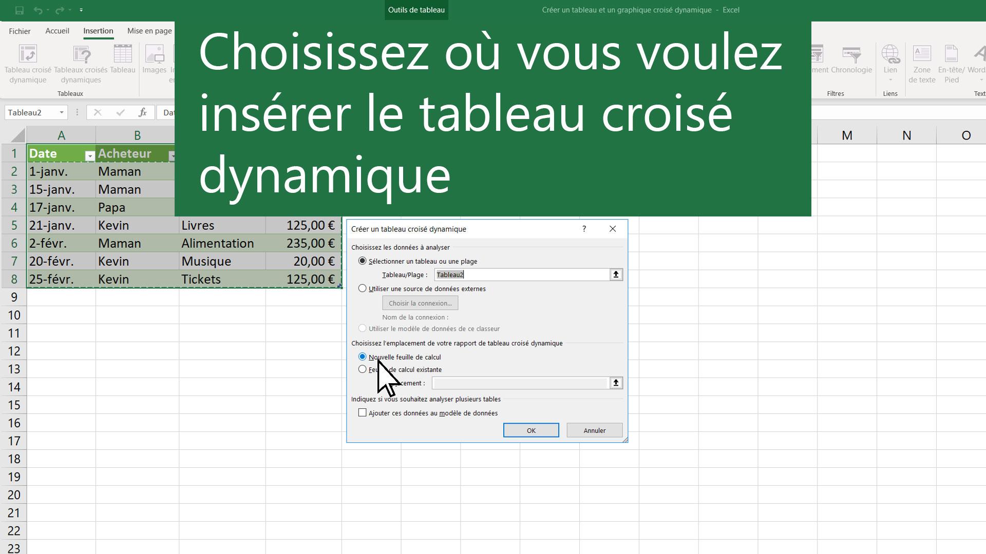 Creer Un Tableau Croise Dynamique Pour Analyser Des Donnees De Feuille De Calcul Support Office
