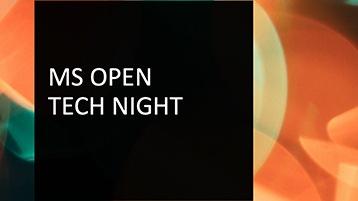 Microsoft Open Tech Night