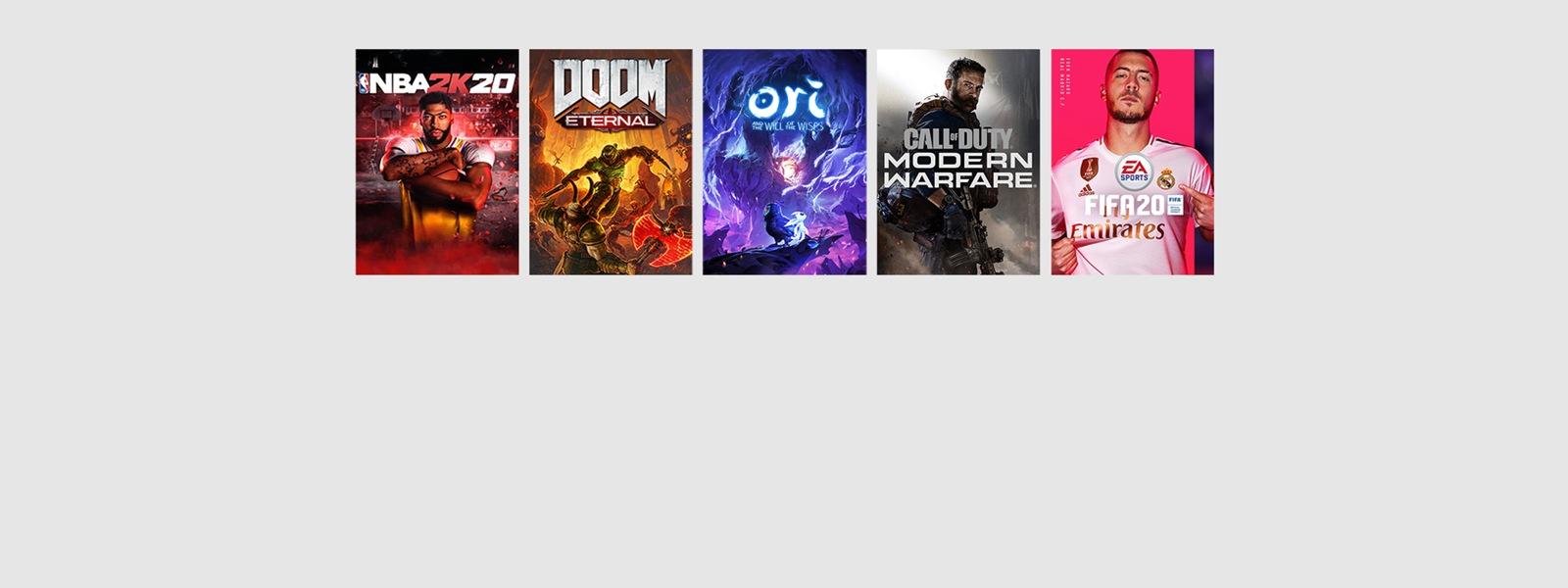 NBA2K20, Doom Eternal, Ori, Call of Duty, FIFA20