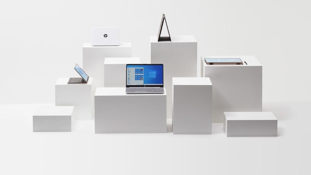 Laptopy z rodziny HP, tryb namiotu, tryb laptopa, tryb tabletu.