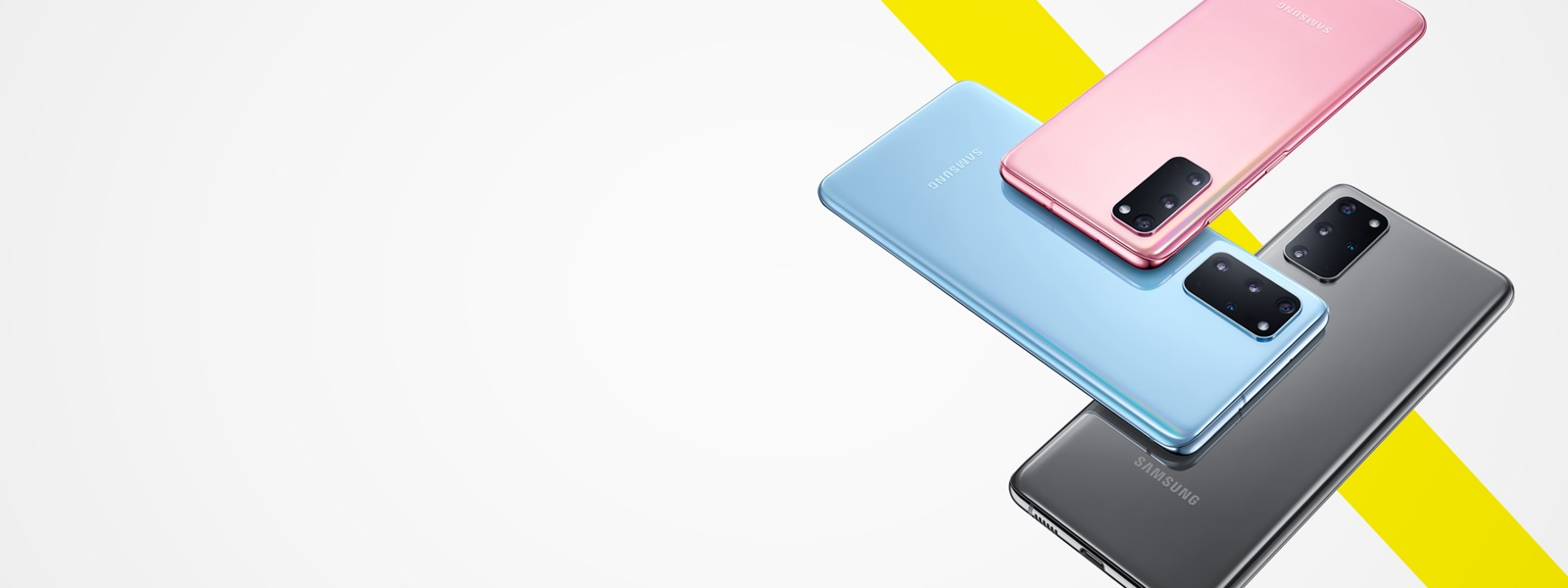 Samsung S20 in various colors featured for Back to School 2020
