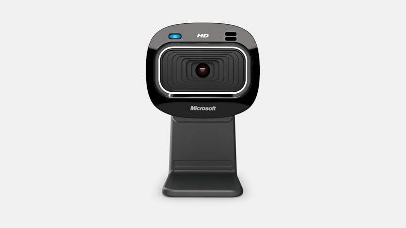 Una toma frontal de una cámara web LifeCam HD-3000