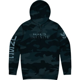 Front view of Halo Infinite Camo Hoodie
