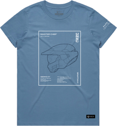 Profile Blue Tee - Womens - L