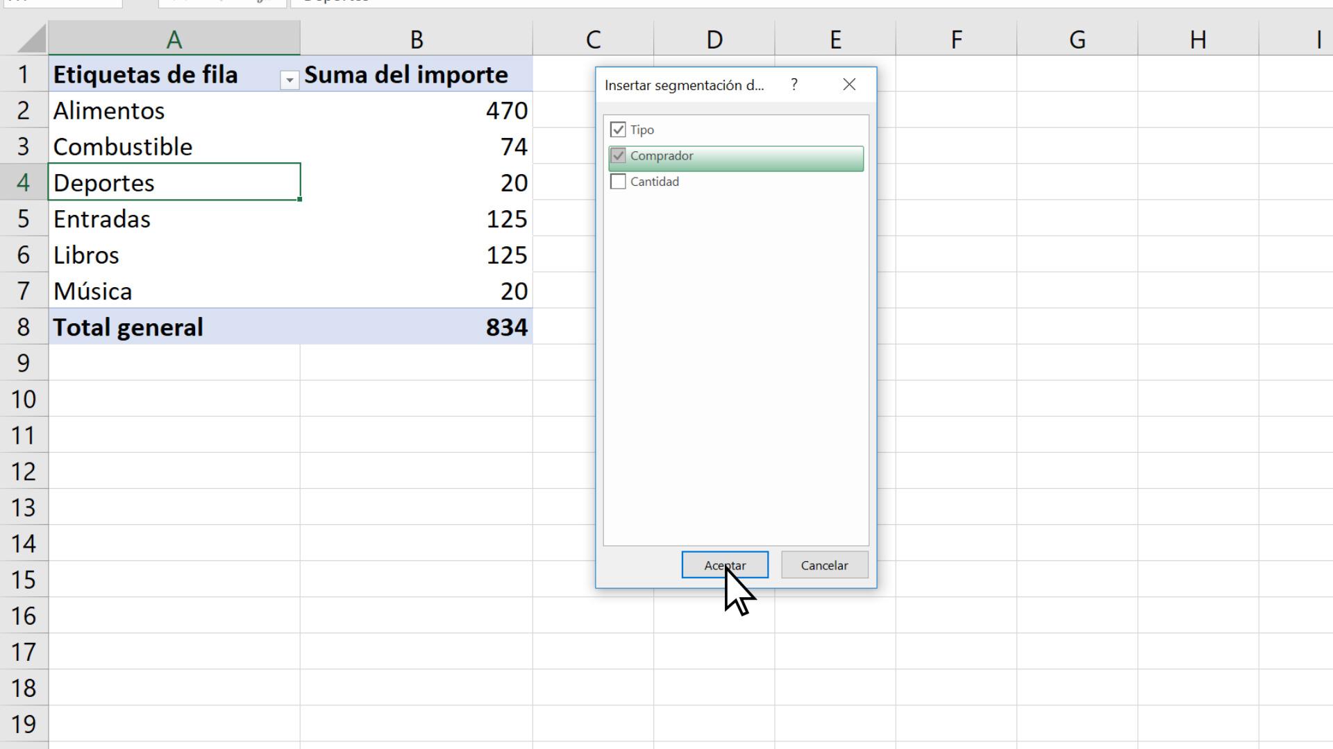 Filtrar Elementos En Una Tabla Dinámica Soporte De Office