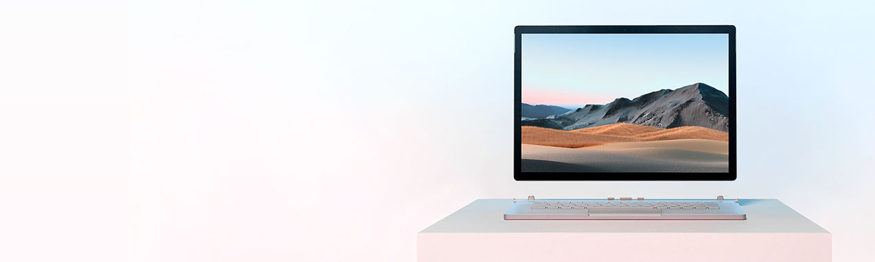 Surface Book 3 com o ecrã separado do teclado