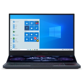 Front view of Asus ROG Zephyrus Duo laptop.