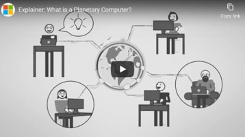 A diagram from the video depicting a planetary computer.
