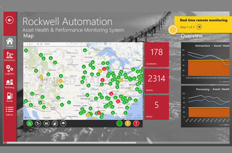 Rockwell Automation Asset health & Performance monitoring system map.