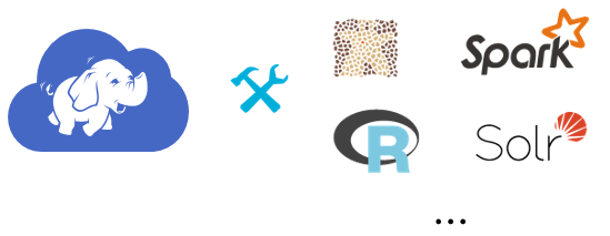 Various logos including Spark and Solr.