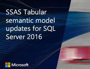 Thumbnail image of SSAS Tabular semantic model updates for SQL Server 2016 video